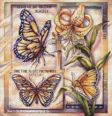 """Butterflies"". Digital cross stitch pattern."