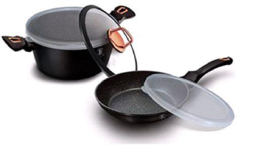 BH-6790 Black Rose Набор посуды 5 пр.