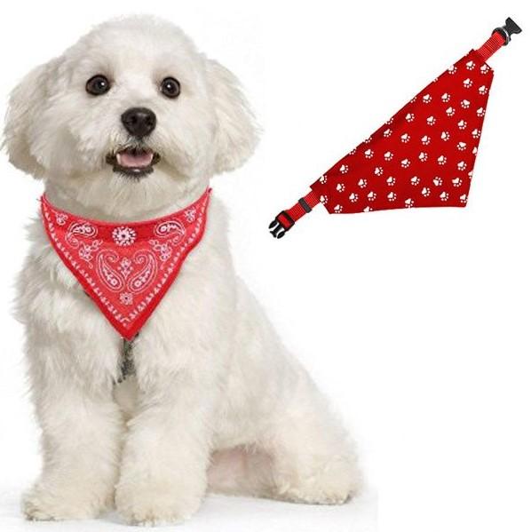 Ошейник-бандана для собак Лапки, 30-48 см