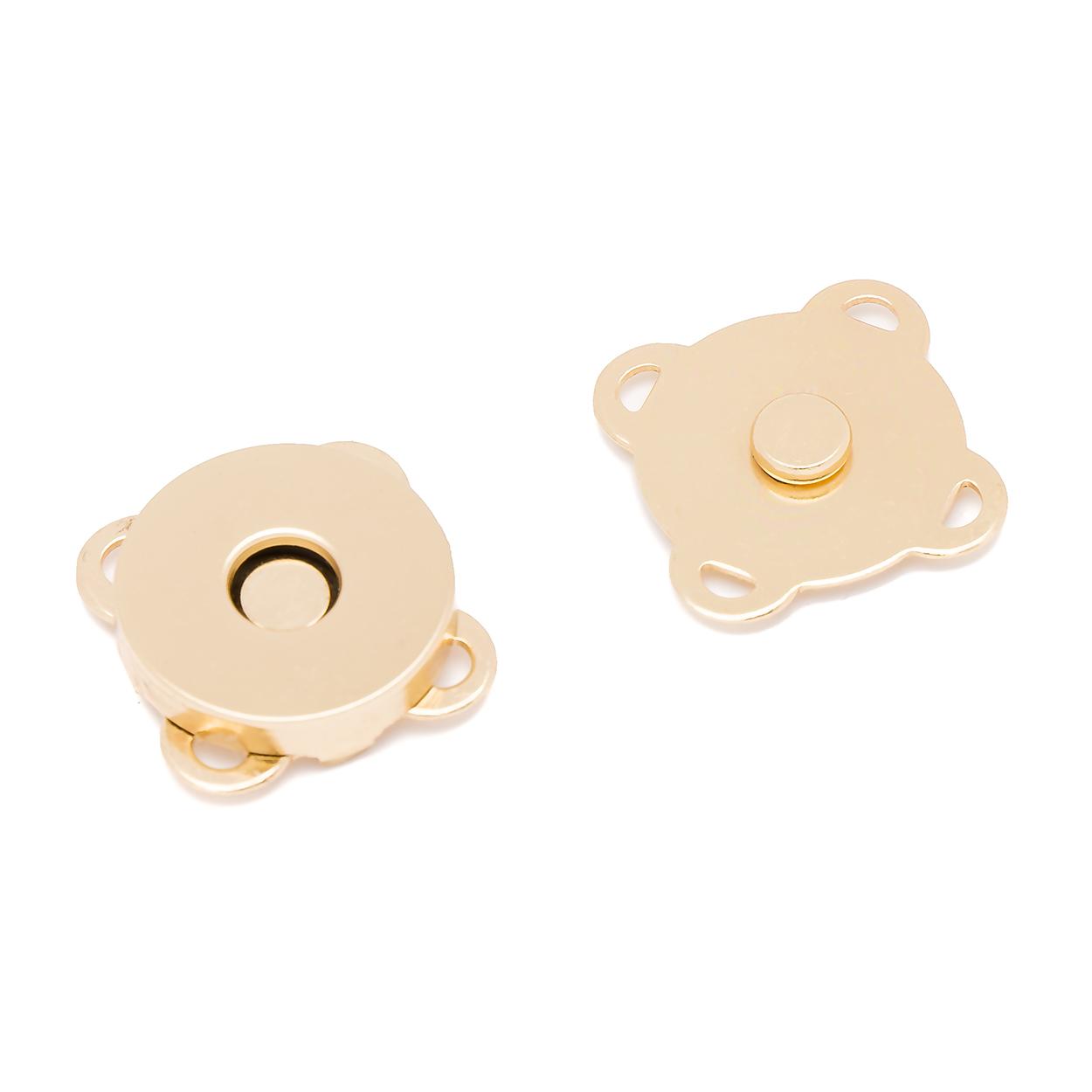 Кнопка магнитная пришивная 18 мм золото