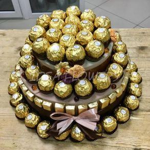 Торт из шоколада и конфет «Шоко»