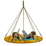 Подвесной мега гамак кровать для дачи желтый