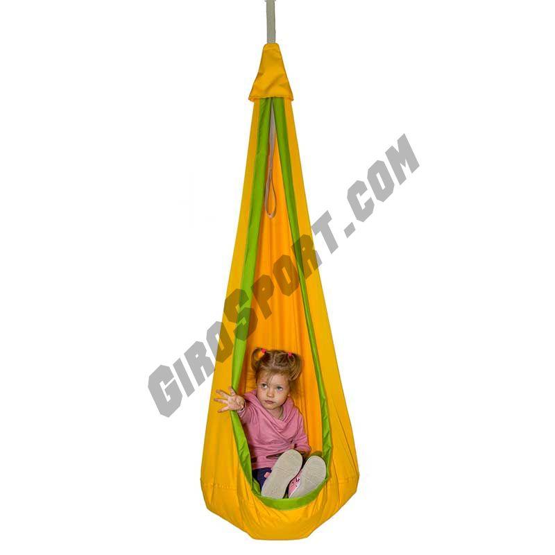 Гамак-кокон детский d-80см, желтый