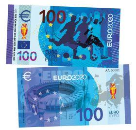100 евро - EURO 2020. Чемпионат Европы по футболу. UNC SoftTouch