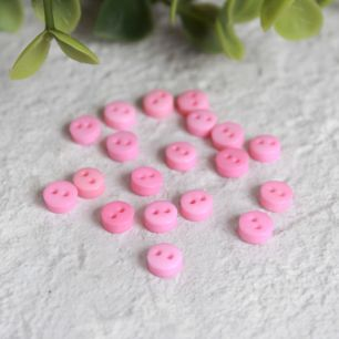 Набор мини пуговиц для творчества, ярко-розовые, 10 шт., 5 мм.