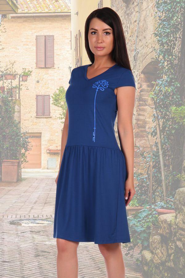 Платье 2462 [индиго]
