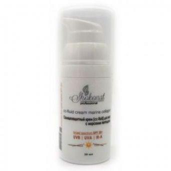 Солнцезащитный крем (cc-fluid) для лица с морскими пептидами (UVB/UVA/IR-A/SPF 30+). 30 мл
