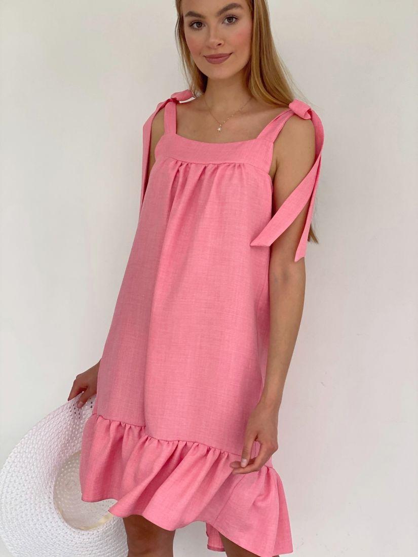 4165 Сарафан с завязками розовый
