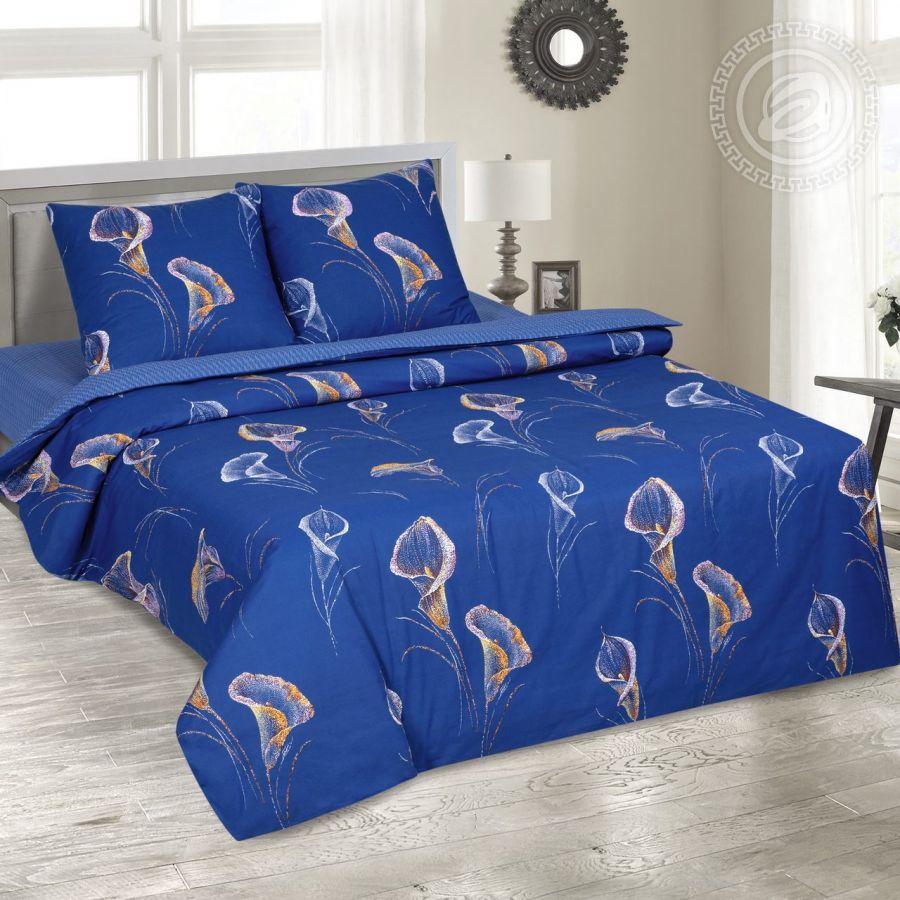 «Каллы» (DE LUXE) постельное белье Поплин Семейный
