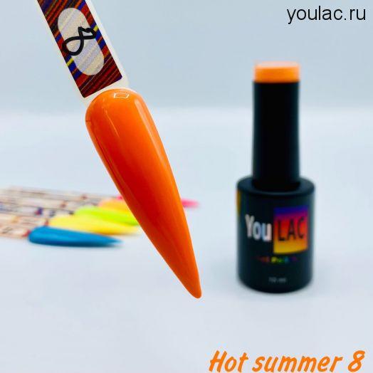 Гель-лак Hot Summer #8 YouLAC, 10 мл