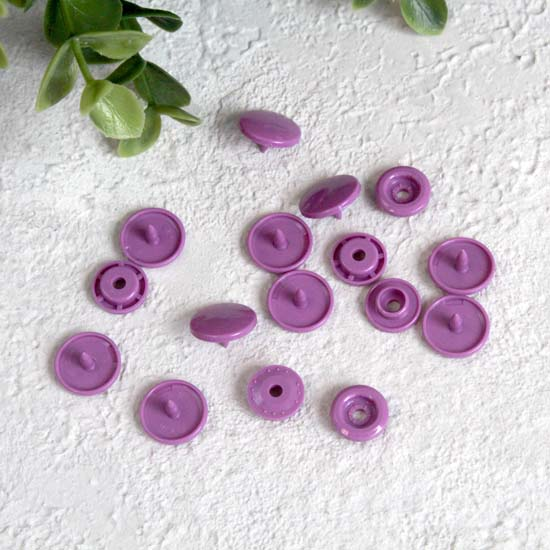 Кнопки пластиковые - Фиолетовые, 12 мм