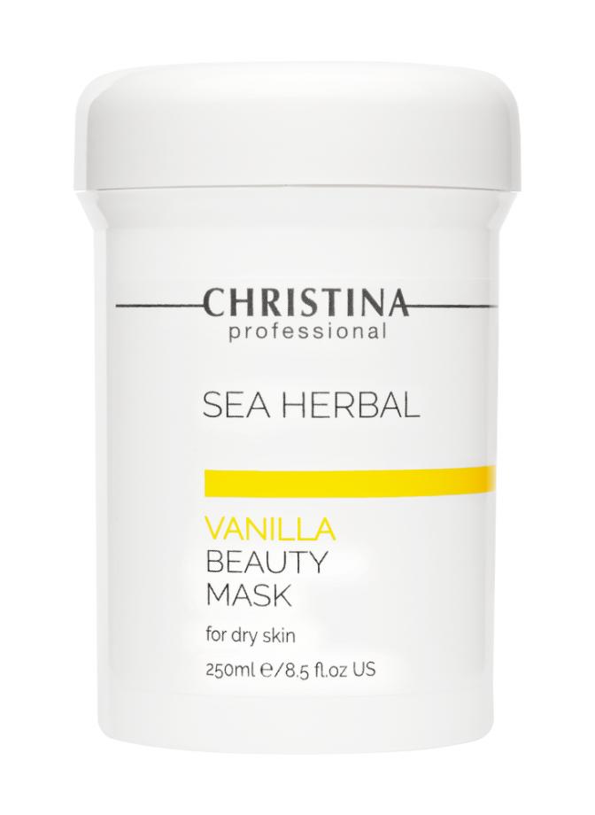 Маска красоты на основе морских трав для сухой кожи Ваниль для лица Christina (Кристина) 250 мл