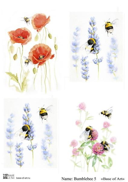 Декупажная карта Base of art, 20*30 см, Bumblebee 5