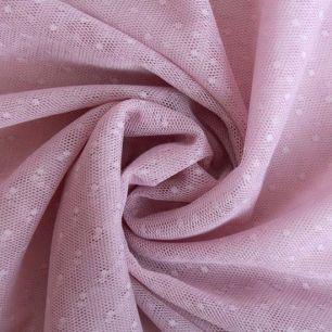 Мягкий фатин - Мелкий горошек, пыльная роза 160*25 см.