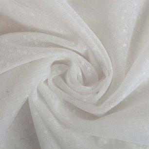 Мягкий фатин - Мелкий горошек, белый 160*25 см.