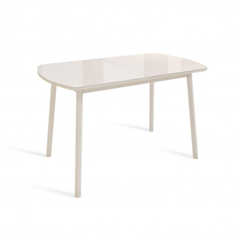 ВИНЕР G стол раздвижной со стеклом ЛИСТВИНГ
