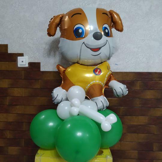 Щенок мальчик - Фигура из фольги собачка