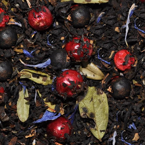 Можжевеловый блюз - черный чай с натуральными ароматизаторами.