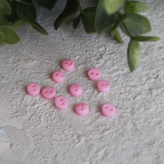 Набор мини пуговиц для творчества, Нежно-розовые, 10 шт. 5 мм.