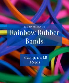 Профессиональные резинки Joe Rindfleisch's SIZE 19 Rainbow Rubber Bands (цвет на выбор)