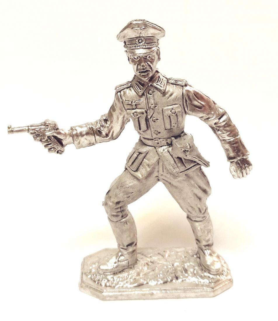 Фигурка немецкий офицер 1944-1945 г олово
