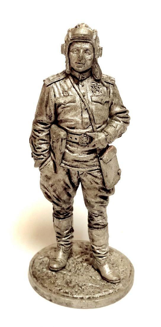 Фигурка Гвардии майор, командир танкового батальона олово