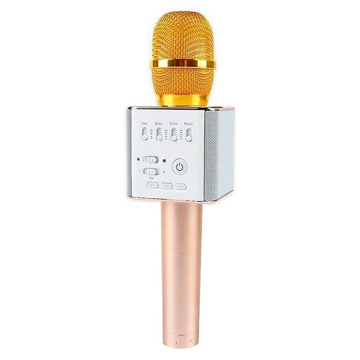 Micgeek Q9 беспроводной микрофон, золотисто-розовый