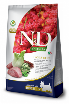 N&D Dog Quinoa Digestion Lamb Adult Mini (Ягненок+киноа для собак мелких пород, поддержка пищеварения)
