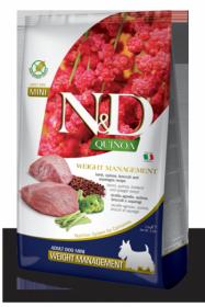 N&D Dog Quinoa Weight Management Lamb Adult Mini (ягненок+киноа  для собак мелких пород. Контроль Веса)