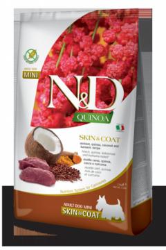 N&D Dog Quinoa Skin&coat Venison Adult Mini (Оленина, киноа для собак мелких пород. Здоровье кожи и шерсти)