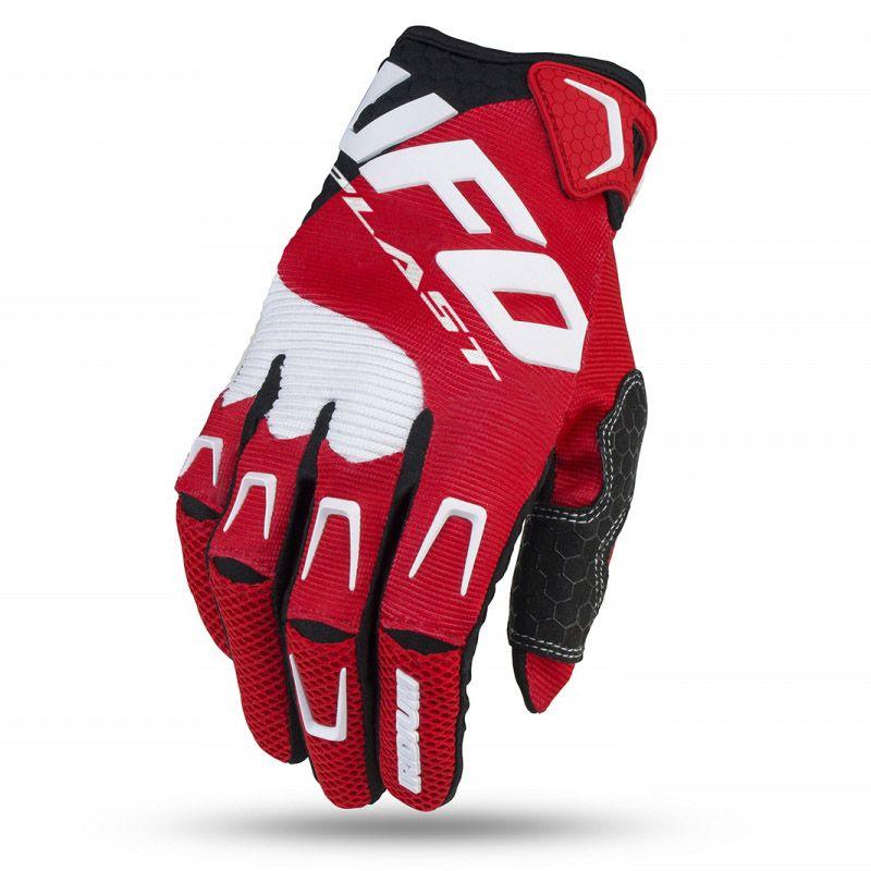 UFO Iridium Red перчатки для мотокросса, красные