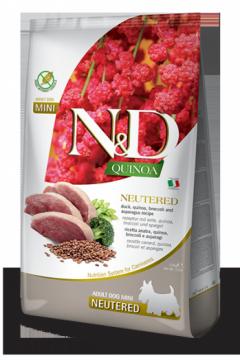 N&D Dog Quinoa Duck Neutered Adult Mini (Утка+киноа,брокколи и спаржа для стерилизованных собак мелких пород)