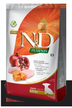 N&D Pumpkin Chicken & Pomegranate Puppi Mini (Курица, гранат и тыква для щенков мелких пород)