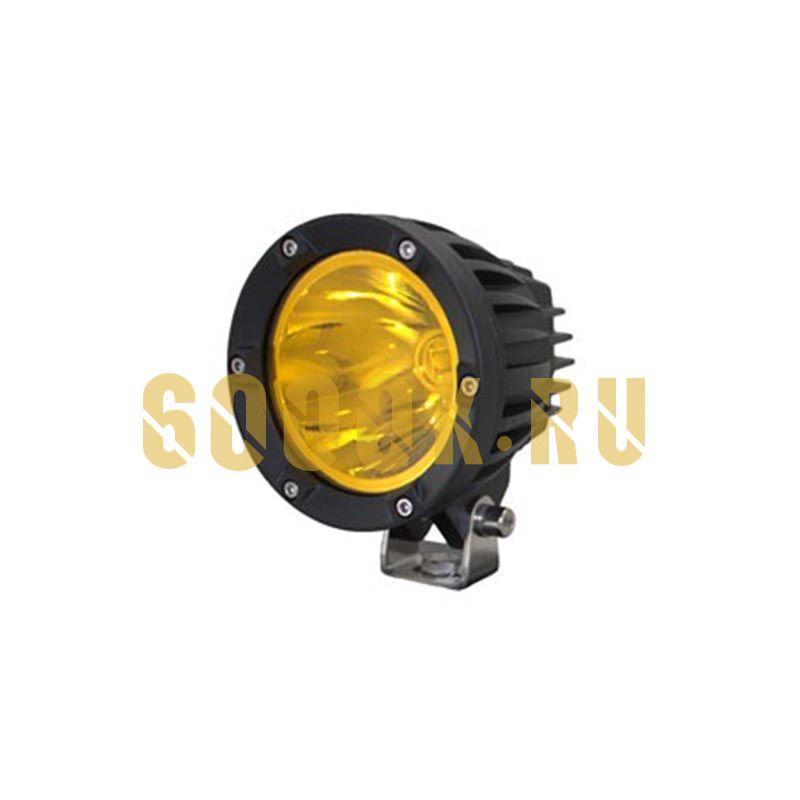 Желтая cветодиодная фара 40Ватт CREE дальнего света (узкий луч)