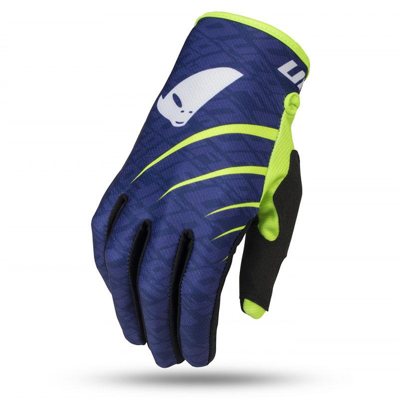 UFO Skill Indium Glove Blue/Neon Yellow перчатки для мотокросса, синие