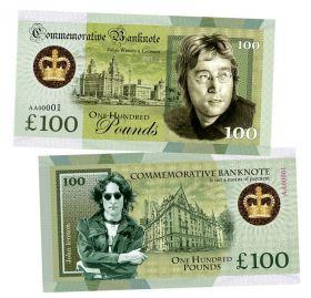 100 Pounds (фунтов) - Джон Леннон (John Winston Lennon. England). Памятная банкнота. UNC