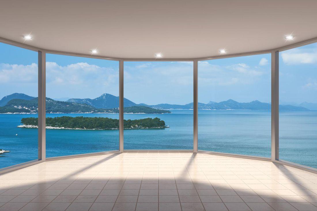 Панорамное окно с видом на море 14-94
