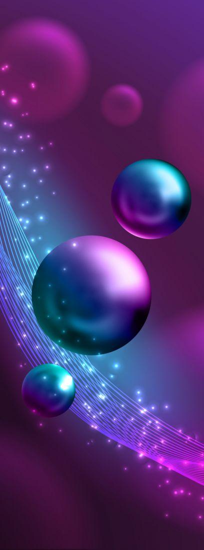 Фиолетовые шары 5169-М