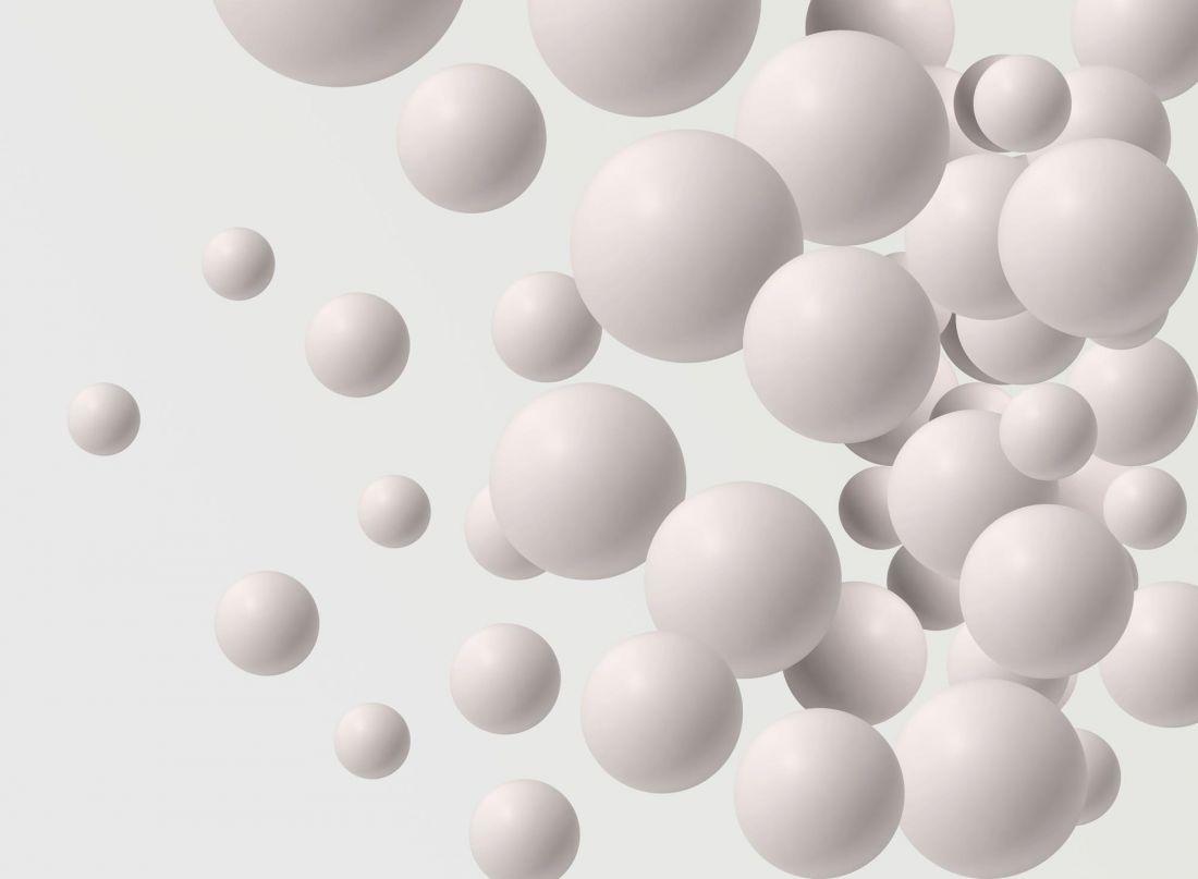 Абстракция белые шары 5-237
