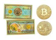 BitCoin. Набор Монета + Банкнота