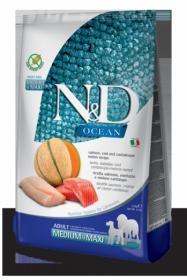 N&D Ocean Salmon, Cod & Cantalupe melon medium&maxi adult (Лосось, треска, дыня для собак средних и крупных пород)