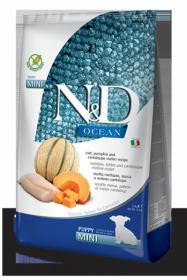 N&D Ocean Cod Pumpkin & Cantalupe melon Puppi Mini  (Треска, тыква и дыня для щенков мелких пород)