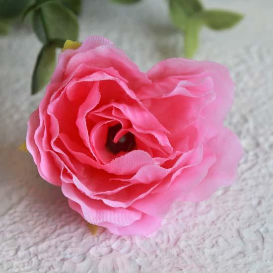 """Цветок """"Розочка"""" 4 см., ярко-розовая"""