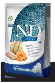 N&D Ocean Cod Pumpkin & Cantalupe melon Puppi medium&maxi (Треска, тыква и дыня для щенков средних и крупных пород)