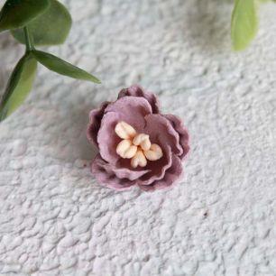 Цветок 2 см. плотный тканевый, пыльная роза