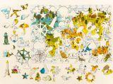 """Деревянный пазл """"Карта мира"""", 53*38см, 153 детали"""