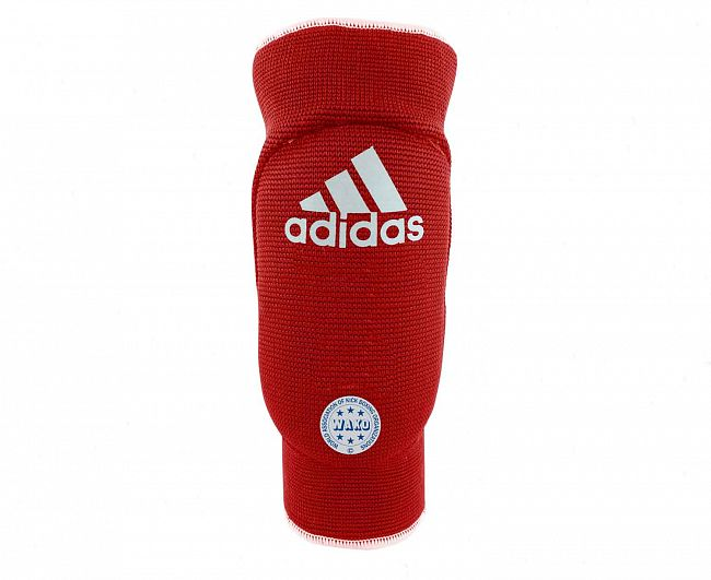 Защита локтя Adidas двухсторонняя WAKO Elasticated Elbow Guard Reversible сине-красная, размер XS, артикул adiWAKOEB01