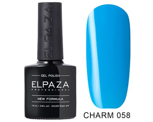 ELPAZA ГЕЛЬ-ЛАК  Charm 058  Воздушный (Сине-голубой)  10 мл