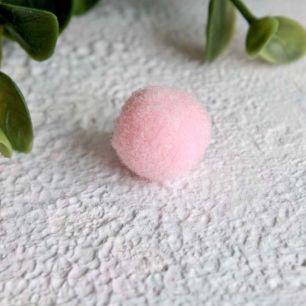Кукольная миниатюра - Помпон нежно-розовый 1,3 см. комплект 5 шт.