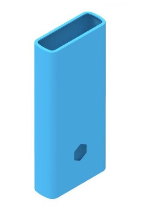 Защитный кейс для  Xiaomi Power Bank 2С/3 20000 mAh ( Силикон / Голубой)